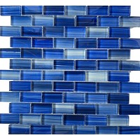 Miami Blue 1X2 Glass tile