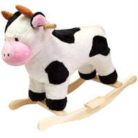 HAPPY TRAILS? Cow Plush Rocking Animal
