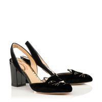 Charlotte Olympia Designer Pumps - Women's Shoes | Charlotte Olympia - KITTY SLING BACK