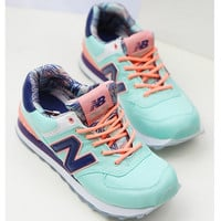 NEW BALANCE Women Men Casual Running Sport Shoes Sneakers The inside printing Green