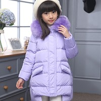Girl's Down jackets coats winter baby Coats thick duck Warm jacket Children Outerwear's jackets