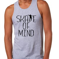 Men's Tank Top Skate Of Mind Skating Skateboard Lovers