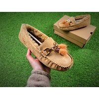 Ozlana Ugg The Fluffy Loafer Chestnut Slippers