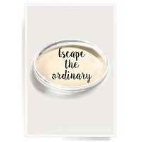 Escape The Ordinary Crystal Oval Paperweight