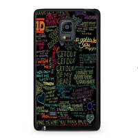 one direction song Samsung Galaxy Note Edge Case