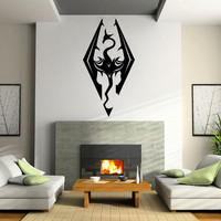 The Elder Scrolsl V: Skyrim logo Sticker Decal Wall Windows iPhone Android Variable size