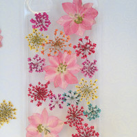 Handmade Real  Natural Pressed Flowers iphone 6 6 plus case iphone 4s 5 5s 5c case htc Samsung case fashion cellphone colorful pink new 2
