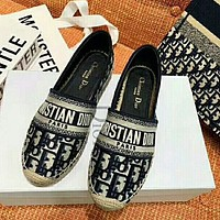 Dior CD Ladies Letter Embroidered Fisherman Shoes Fashion Straw Hemp Rope Shoes Women Shoes