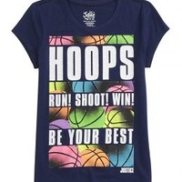 Hoops Graphic Tee   Girls Graphic Tees Clothes   Shop Justice