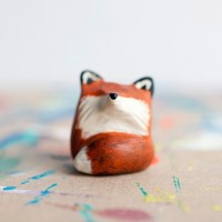 Handmade Gifts | Independent Design | Vintage Goods Miniature Animal Totem - Le Red Fox - SHIPS 12/5 - i love her!