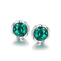 Green Swarovski Elements Classical Princess Studs
