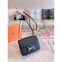 Neil Boutique Online Hermes popular Women Leather monnogam Handbag Crossbody bags   Shouldbag Bumbag