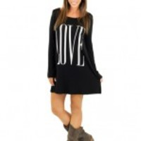 "Black And Ivory ""Love"" Top"