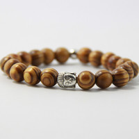 FATONGBB0106Freeshipping high quality Buddha head bead bracelet Mara prayer beads natural wooden bead bracelets men's bracelets