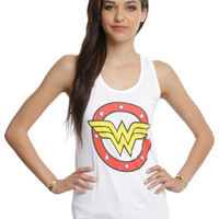 DC Comics Wonder Woman Circle Logo Girls Tank Top
