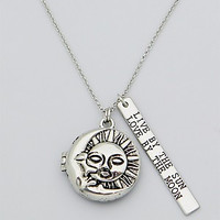 Sun and Moon Locket Necklace