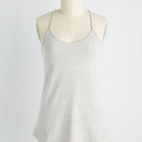 Peace and Kayak Tank Top in Dove | Mod Retro Vintage Short Sleeve Shirts | ModCloth.com