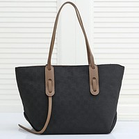 GG Classic Canvas Embroidered Letters Ladies Shopping Handbag Shoulder Bag