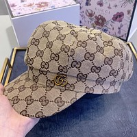 GUCCI New fashion more letter couple cap hat Khaki