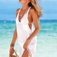 Swimsuit Cover Up ~ Studio Collection ~ On The Fringe Swimsuit Cover Up