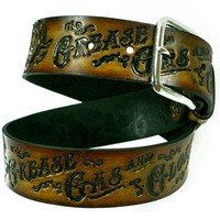 Grease Gas and Glory Embossed Belt