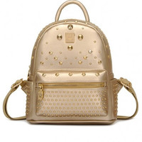 Gold Studded Backpack