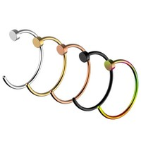 Nose Ring Hoop,UHIBROS 5 Pcs a Set 316L Stainless Steel Nose Rings Hoop Nose Piercing Body Jewelry,Unisex - Walmart.com