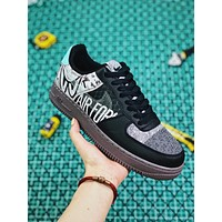 Nike Air Force 1 Graffiti Inspired Graphics AF1 Low 'Off Noir' Sneakers