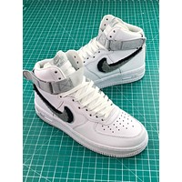 Nike Air Force 1 High Chenille Swoosh White Sport Shoes