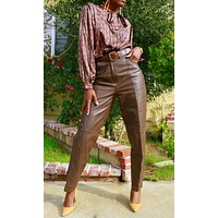 Vintage Foxy Brown Leather Pants