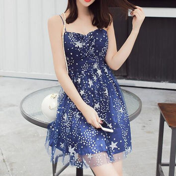 Sexy Sling Star Sequined Dress