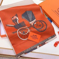 Hermes Women Fashion Cashmere Cape Scarf Scarves Shawl-6