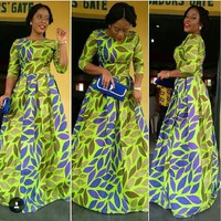 African Print Maxi Gown Dress