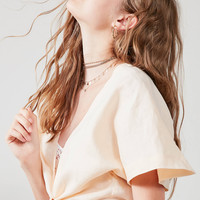 SIR the label Brooke Wrap Top | Urban Outfitters