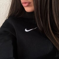 NIKE Fashion Sport Embroidery Top Pullover Sweater Sweatshirt