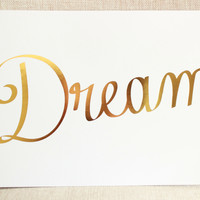 Dream Print, Gold Foil