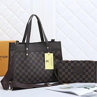 Louis Vuitton LV Hot Two-piece Set Classic Tote Bag Shopping Bag Fashion Ladies Handbag Shoulder Messenger Bag