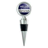 Conrad Hello My Name Is Wine Bottle Stopper