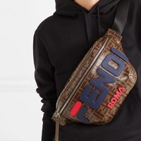 Fendi X Fila Logo Appliqued Belt Cross Body Bag