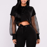 Tracy Mesh Top - Black