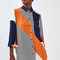 Oversized Geometric Cut About Shirt - New In This Week - New In