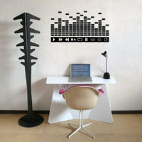 DJ Buttons Equalizer Wall Decal - DJ Decal - Home Decor - Equalizer - Music - MacBook - Studio Decor - High Quality Vinyl Graphic