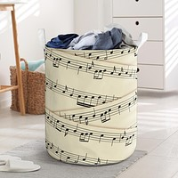 Sheet Music Laundry Basket