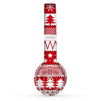 The Red and White Christmas Pattern Skin Set for the Beats by Dre Solo 2 Wireless Headphones