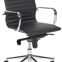 Loreley Desk Chair Black Vegan Leather