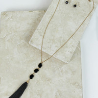 Triple Play Necklace Set in Black