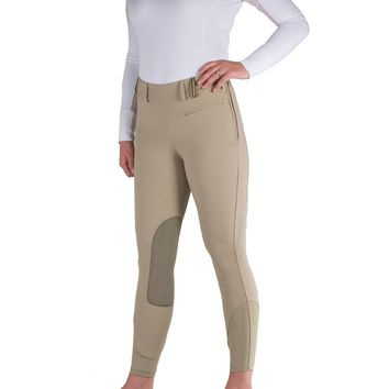 Noble Outfitters Signature Side Zip Knee Patch Breech - Traditional Tan
