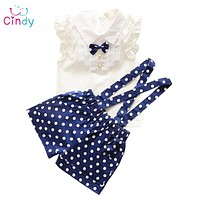 Kids Clothing Set T Shirt And dot shorts Pants 3 Colors Children Girl Clothes Sets