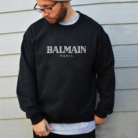 2018 Autumn BALMAIN PARIS Women and Men Hoodie Ellesse Sweatshirt Brand Graphic Sweatshirt Cotton Winter Warm Hoodie Unisex