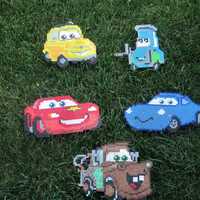 DIY Kit - Cars Inspired Lightning Mcqueen and Friends Wall Decor or Magnet Set